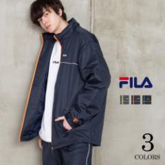 【還元祭クーポン対象】【FILA/フィラ】中綿 ウォームアップスーツ  ワンポイント ロゴ メンズ ジャケット パンツ セットアップ 上下セ