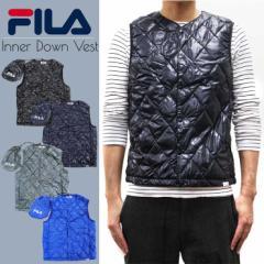 FILA フィラ インナーダウン ベスト メンズ 巾着袋 ポーチ アウター ダウンベスト 防寒 インナー 収納袋  ブランド 人気 アパレル