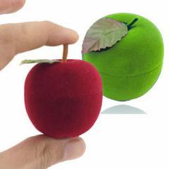 アップルギフトケース りんご 林檎 リンゴ おもしろ ラッピングボックス 指輪 リング ピアス イヤリング ネックレス 贈り物 店舗用 業務