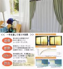 【送料無料】最強のミラーレースカーテン透けない・防炎・遮熱・断熱・UVカット・形状記憶加工 日本製ユニチカ【サラクール】