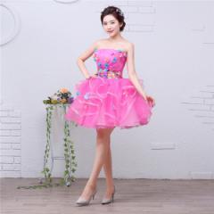 2b57b613a70e4 花柄 ミニドレス パーティードレス ワンピース カラードレス ショート丈 二次会 演奏会 披露宴 結婚