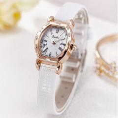 【メール便送料無料】YUHUE かわいいトノー型レディース腕時計/新品予備電池サービス/カジュアル/ファッション/女性/母の日 ぽっきり