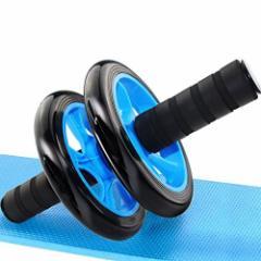 腹筋ローラー アブローラー フィットネスローラー コンパクト エクササイズローラー スリムトレーナー マット付き