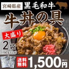和牛丼の具 160g×2袋 国産 宮崎県産 黒毛和牛 ...
