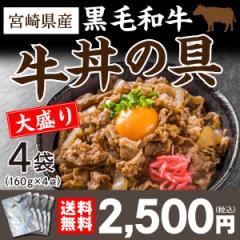 和牛丼の具 160g×4袋 国産 宮崎県産 黒毛和牛 ...