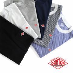 DANTON ダントン 胸ポケットTシャツ JD-9041 無地 ボーダー 半袖Tシャツ (メンズ レディース)