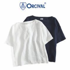 ORCIVAL オーシバル リネン プルオーバーシャツ RC-3648 YLM カットソー (レディース)