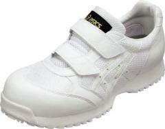 アシックス 静電気帯電防止靴 ウィンジョブE30S 白X白 22.5cm【FIE30S.0101-22.5】(安全靴・作業靴・静電作業靴)
