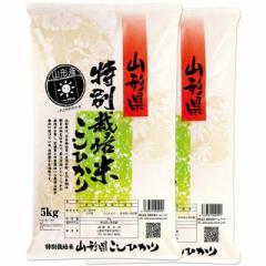 新米 特別栽培米 コシヒカリ 10kg 送料無料 山形県 置賜 令和3年産 (2021年 白米 5kg×2)