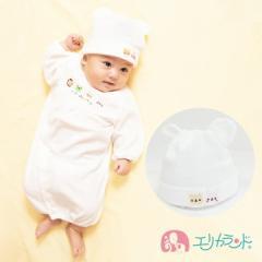 【送料無料】耳付き帽子 新生児 ベビー 甘撚りパイル アニマル柄 40cm〜42cm ER2952