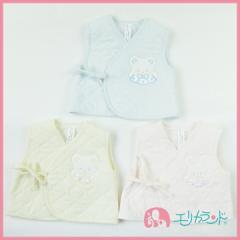 【送料無料】ベスト 新生児 赤ちゃん ベビー 青 黄 ピンク アニマル刺繍 日本製 人気 ER2921