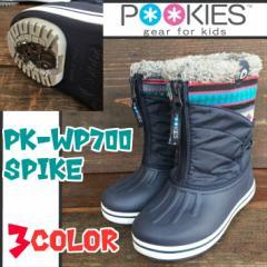 プーキーズ(POOKIES)キッズ スノーブーツ PK-WP700S 防寒靴 3色 スパイク付 子ども用