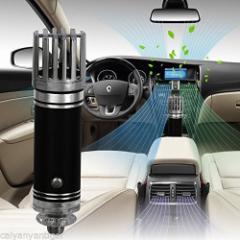 新品 送料無料●車用 空気清浄器●カー用品 シガーソケット 空気清浄機 クリーナー フレッシュナー アルミ合金 ブルーLED カ