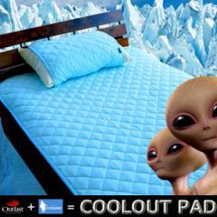 【敷き・枕パッドセットダブル】日本製クールアウトひんやりベッドパッド+枕パッドセット アウトラスト クールレイ
