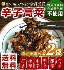 からし高菜(辛子高菜) 選べる250g×2袋 送料無料 樽味屋 高菜漬け(バリ辛・ごまは200g) ぽっきり ポイント消化