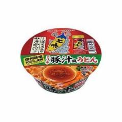 サンヨー食品 サッポロ一番 八幡屋礒五郎 七味唐からし使用 ピリ辛豚汁風うどん 12入(12月上旬頃入荷予定)