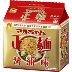 東洋水産 マルちゃん 正麺 醤油味(袋) 5食×6入