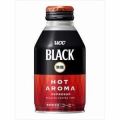 UCC上島珈琲 BLACK無糖 ホットアロマ R缶 275g×24入