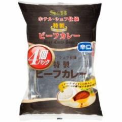エスビー食品 S&B シェフ仕様特製ビーフカレー(辛口) 4P×3入