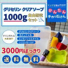 グリセリン クリアソープ 簡単手作りセット (色チップ 4色 エッセンシャルオイル シリコンモールド)