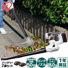 [バッテリー2個セット] ブロワ ブロワーバキューム 充電式 18V JB181 アイリスオーヤマ 洗車 静音 コードレス 軽量 バッテリー2個セット