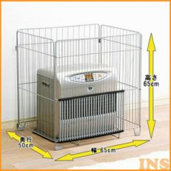 ファンヒーターガード 幅65cm 高さ65cm  FTE-650N ストーブ 安全対策 柵 ガード 子供 赤ちゃん アイリスオーヤマ 四方式 コンパクト 簡単
