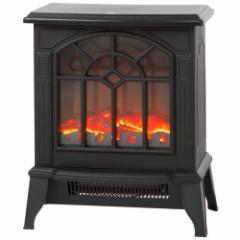 ほのぼのと暖かいムードを醸し出す 暖炉型 ストーブ 2段階切替