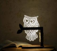 【縁起物】ふくろうのインテリア・ランプ 調光可能