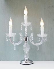 キャンドルムードが漂った雰囲気の卓上ランプ 3灯