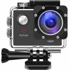 アクションカメラ 1200万画素 フルHD 170度広角  30M防水