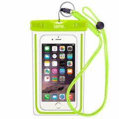 スマホ 防水携帯ケース いろいろな色があります。(写真 : グリーン)