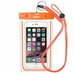 スマホ 防水携帯ケース いろいろな色があります。(写真 : オレンジ)