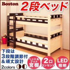 大人でも使えるオシャレな2段ベッド ボストン-BOSTON (2段ベッド すのこ 耐震)