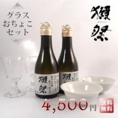 父の日 ギフト 送料無料 獺祭 てはじめセット 純米大吟醸39 180ml×2本 貴人グラス 2脚・おちょこ 2個 日本酒