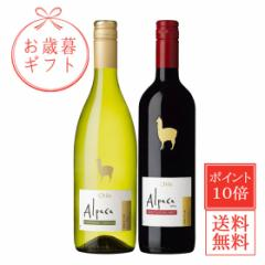 お歳暮 ギフト 送料無料 極旨チリワイン アルパカ シャルドネ・セミヨン&カベルネ・メルロー 赤白 ワインセット 750ml 2本セット スペイ