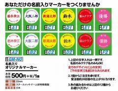 グラウンドゴルフ ニチヨー 名前入りオリジナルマーカー GM-NO