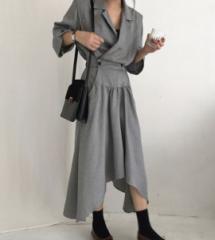 スプリングファッションスーツ ハイウエストスカート ロング丈 yqmx1380