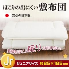 日本製 ジュニアサイズ敷き布団【三層固わた】 キッズ布団 セミシングル 子供用ふとん