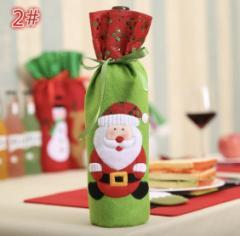 ☆クリスマスデザインのワインカバー