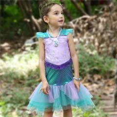 423d5448e35d0 子供 ディズニープリンセス キッズ アリエル ワンピース なりきりワンピース プリンセスドレス 子どもドレス プリンセス キッズドレス