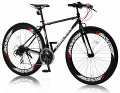 クロスバイク CAC-025 NYMPH ニンフ 700c(約27インチ) 自転車 21段変速ギア 60mmディープリム CANOVER カノーバー