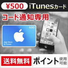 iTunes Card 500円分 アイチューンズカード Apple プリペイドカード  コード通知 [Eメール通知専用]