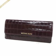 a00dcdb6f4c4 マイケルコース MICHAEL KORS レディース 長財布 型押しレザー ボルドー系 32F7GF6F2E 599