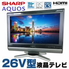 【中古】26V型 液晶テレビ SHARP AQUOS LC-26D50 地上デジタル BSデジタル 110度CSデジタル HDMI リモコン・B-CASカード付 アクオス