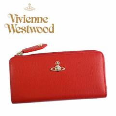 Vivienne Westwood/ヴィヴィアンウエストウッド レディース長財布 SAFFIANO サフィアーノ L字ラウンドファスナー/レッド/51050010