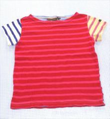 2a354fcc4226e デニムアンドダンガリー DENIM   DUNGAREE ボーダーTシャツ 半袖 110cm 赤 青系 女の子
