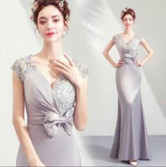 2e5b1ad3efbea ウェディングドレス パーティドレス 舞台衣装 二次会 結婚式 司会者 披露宴 写真撮影 Vネック