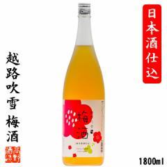 梅酒 日本酒仕込み 日本酒ベース 越路吹雪 1800ml 一升瓶 甘くない 父の日 ギフト お酒 プレゼント 新潟 高野酒造