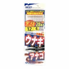 オーナー デカパック 糸付うなぎ・アナゴ 針12号−ハリス4号【ゆうパケット】