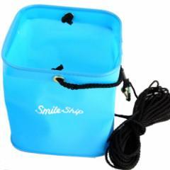 タカミヤ 角型水汲バケツ 錘付 21cm ブルー